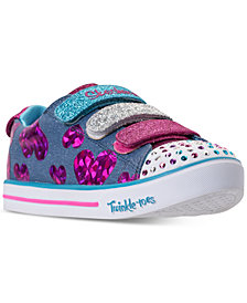 Skechers Little Girls' Twinkle Toes: Sparkle Lite - Flutter Fab Light-Up Sneakers from Finish Line