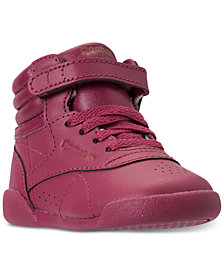 Reebok Toddler Girls' Freestyle High Top Casual Sneakers from Finish Line