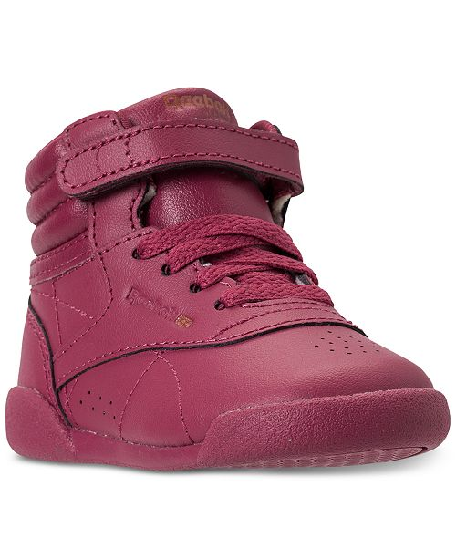 8eb9f96651ab3 ... Reebok Toddler Girls  Freestyle High Top Casual Sneakers from Finish ...