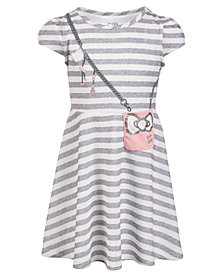 Hello Kitty Little Girls Striped Purse Dress