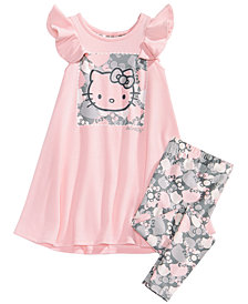 Hello Kitty Toddler Girls 2-Pc. Graphic-Print Top & Leggings Set