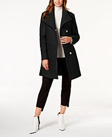 Kenneth Cole Petite Wing-Collar Coat