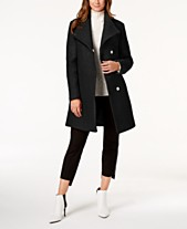 2259cfdb50 Kenneth Cole Asymmetrical Bouclé Walker Coat