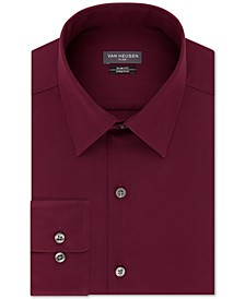 Men's Slim-Fit Flex Collar Stretch Solid Dress Shirt