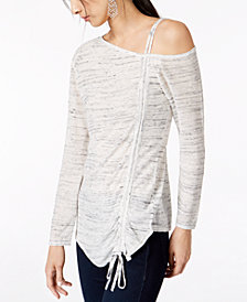 I.N.C. Drawstring One-Shoulder Top, Created for Macy's