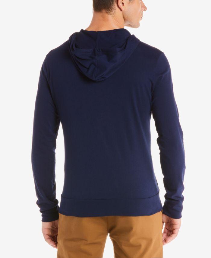 Lacoste Hoodie Jersey Long Sleeve Tee Shirt with Kangaroo Pocket & Reviews - T-Shirts - Men - Macy's