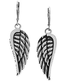 King Baby Women's Wing Drop Earrings in Sterling Silver