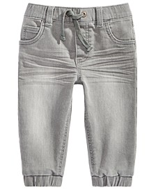 Baby Boys Grey Denim Jogger, Created for Macy's