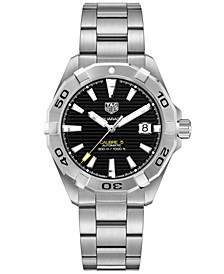 Men's Swiss Automatic Aquaracer Calibre 5 Stainless Steel Bracelet Watch 41mm