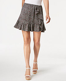 MICHAEL Michael Kors Printed Ruffled Skirt