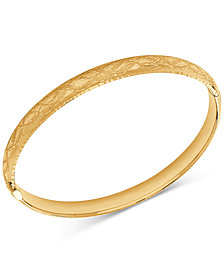 Engraved Bangle Bracelet in 14k Gold