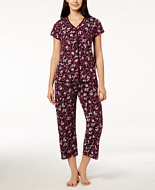Charter Club Cotton Picot-Trim Pajama Set, Created for Macy's