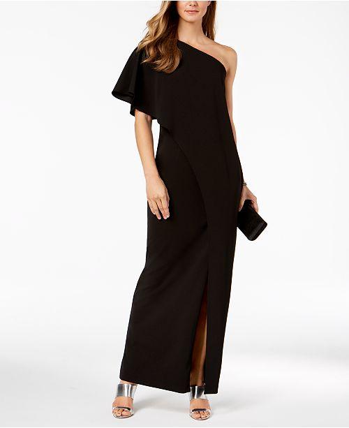 278a311b06bc Adrianna Papell Draped One-Shoulder Dress   Reviews - Dresses ...