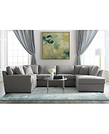 Callington Fabric Chaise Sectional Sofa Collection, Created for Macy's