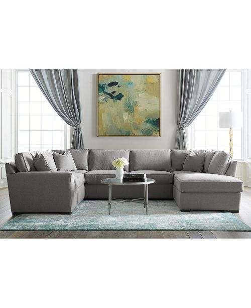 Www Macyfurniture: Furniture Callington Fabric Chaise Sectional Sofa