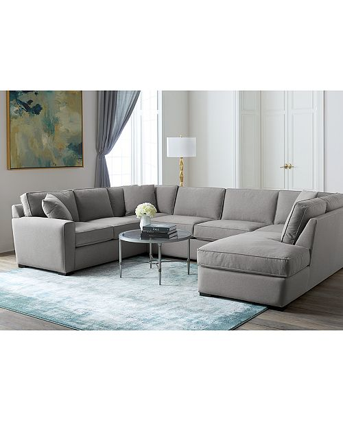 Furniture Callington Fabric Chaise Sectional Collection Created For Macy S