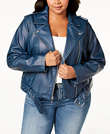 Levi's® Faux-Leather Belted Moto Jacket