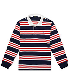 Polo Ralph Lauren Big Boys Striped Cotton Jersey Rugby Shirt