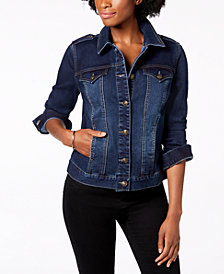Charter Club Shoulder Epaulette Jean Jacket, Created for Macy's