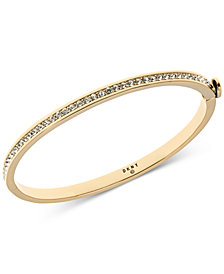 DKNY Gold-Tone Pavé Bangle Bracelet