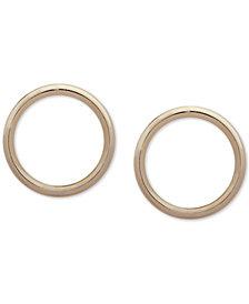 "DKNY Gold-Tone 1"" Circle Stud Earrings"