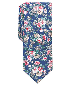 Bar III Men's Sketched Floral Skinny Tie, Created for Macy's