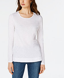 Maison Jules Long-Sleeve T-Shirts, Created for Macy's