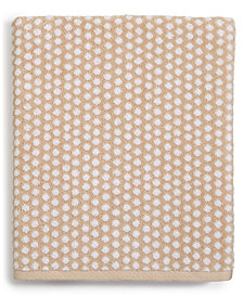 Charter Club Elite Cotton Fashion Dot Washcloth, Created for Macy's