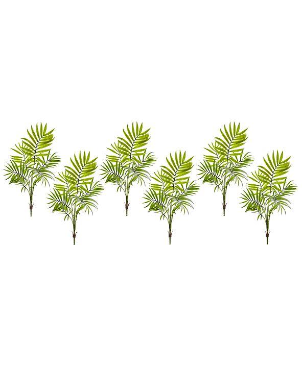 Nearly Natural 6-Pc. Mini Areca Palm Artificial Bush Set