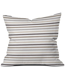 Little Arrow Design Co Mod Neutral Stripes Throw Pillow