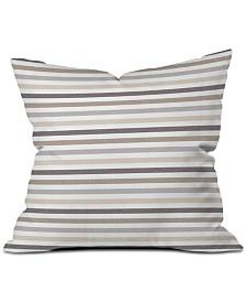 Deny Designs Little Arrow Design Co Mod Neutral Stripes Throw Pillow