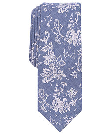 Bar III Men's Figure Floral Skinny Tie, Created for Macy's