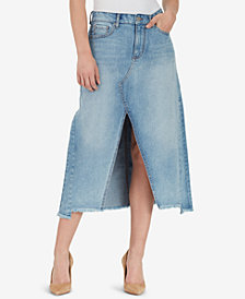 WILLIAM RAST A-Line Maxi Denim Skirt