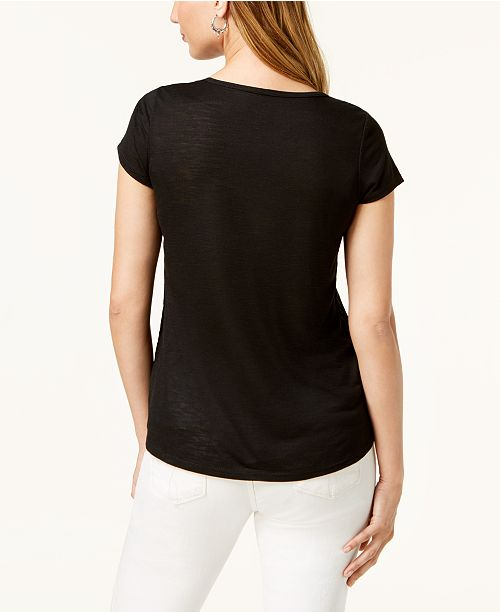 Hem Dolphin amp; Macy's Printed Mandalla Created T Co Shirt Style for Black wIRqHt