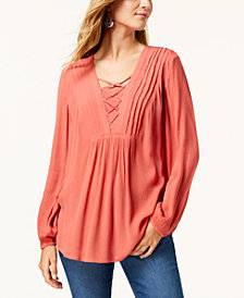 Style & Co Criss-Cross Top, Created for Macy's