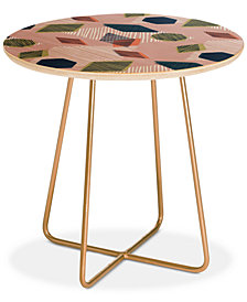 Deny Designs Mareike Boehmer Striped Geometry 5 Round Side Table