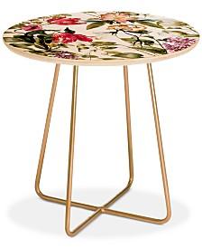 Deny Designs Marta Barragan Camarasa Detailed Botanical Garden Round Side Table
