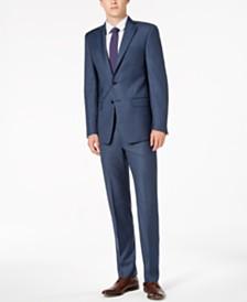 Calvin Klein Men's Slim-Fit Stretch Blue Neat Suit Separates