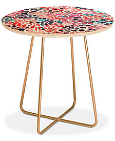 Deny Designs Ninola Design Speckled Painting Stains Round Side Table