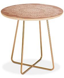 Deny Designs Monika Strigel SERENDIPITY ROSE Round Side Table