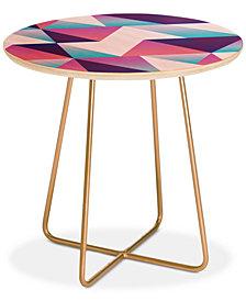 Deny Designs Lara Kulpa Geo Holo 1 Round Side Table