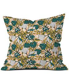 Deny Designs Marta Barragan Camarasa Tropical Autumnal Bloom Throw Pillow
