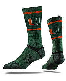 Strideline Miami Hurricanes Crew Socks II