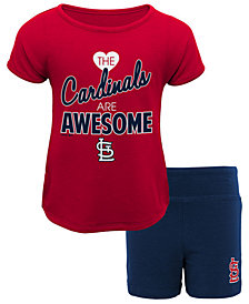 Outerstuff St. Louis Cardinals Greatness Short Set, Toddler Girls (2T-4T)
