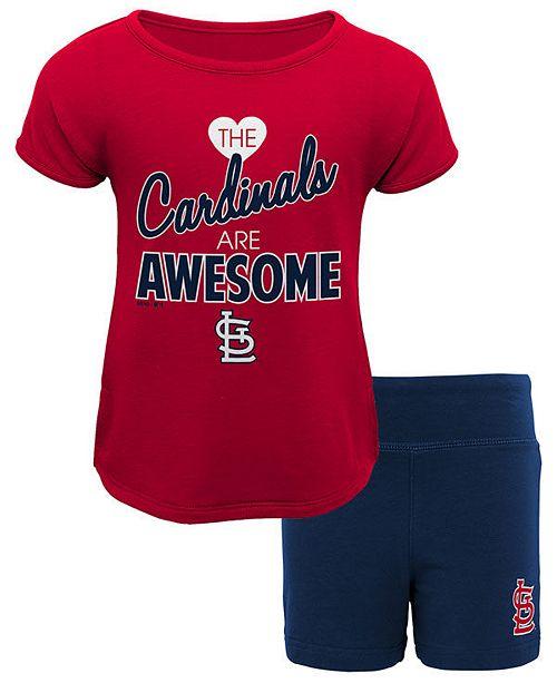 2246c55a Outerstuff St. Louis Cardinals Greatness Short Set, Toddler Girls (2T-4T)
