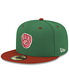 New Era Milwaukee Brewers Green Red 59FIFTY FITTED Cap