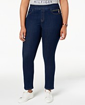 289e7f95 Tommy Hilfiger Plus Size Gramercy Pull-On Jeans, Created for Macy's