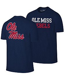 Retro Brand Men's Ole Miss Rebels Team Stacked Dual Blend T-Shirt