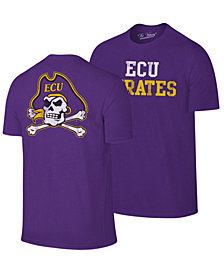 Retro Brand Men's East Carolina Pirates Team Stacked Dual Blend T-Shirt