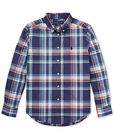 Polo Ralph Lauren Big Boys Plaid Cotton Shirt